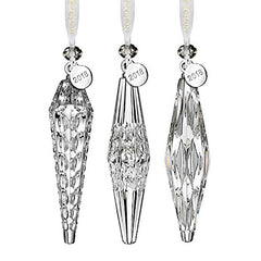 "Waterford 5"" Icicle Ornaments, Set of 3"