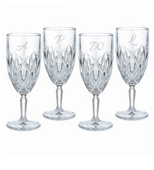 Waterford Personalized Marquis Brookside Footed Iced-Beverage Goblets, Set of 4