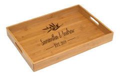 Personalized Lipper Bamboo Solid Tray