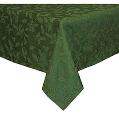 Bardwil Holly Damask 52X70 Green Tablecloth - Misc