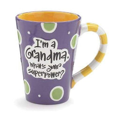 Burton & Burton Im A Grandma Whats Your Super Power 12Oz Purple Coffee Mug - Misc