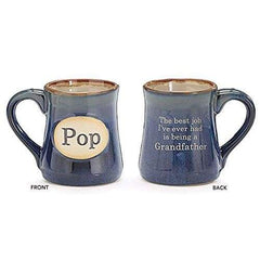 Burton & Burton Pop Best Job Ever 18Oz Porcelain Navy Blue Mug - Misc