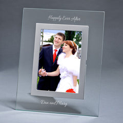 Personalized Clear Glass 5x7 Picture Frame