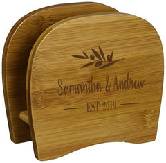 Personalized Lipper Bamboo Napkin Holder