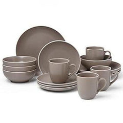 Dansk Kisco Dinnerware 16Pc Taupe Dinnerware Set - Misc