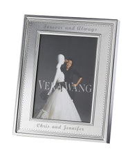 Personalized Wedgwood Vera Wang Grosgrain 5x7 Picture Frame