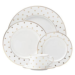 Kate Spade Larabee Road Gold Dinnerware 5Pc Place Setting Service For 1 - Misc