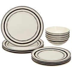 Lenox Around The Table Stripe 12Pc Set White - Misc