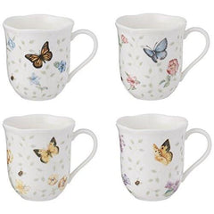 Lenox Butterfly Meadow 10Oz Mugs Set Of 4 Assorted - Misc