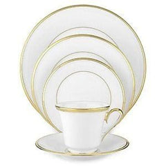 Lenox Eternal White Gold Band Bone China 5Pc Dinnerware Set - Misc