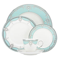 Lenox Marchesa Empire Pearl 5Pc Turquoise Dinnerware Set - Misc