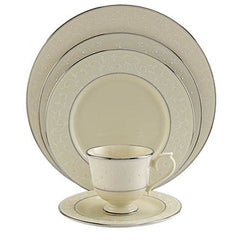 Lenox Pearl Innocence Platinum-Banded Fine China 5Pc Dinnerware Set - Misc