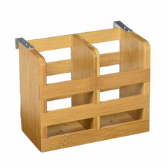 Lipper Bamboo Flatware Holder W/metal Clips - Misc