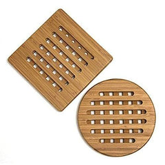 Lipper Bamboo Square & Round Trivets Set Of 2 - Misc
