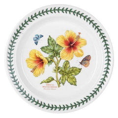 Portmeirion Exotic Botanic Garden Hibiscus Dinner Plates Set Of 6 - Misc