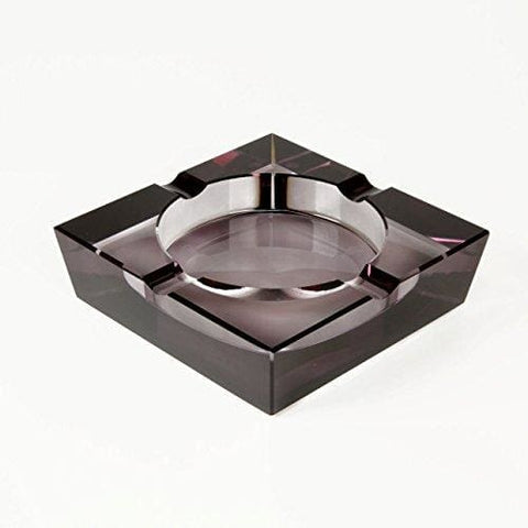 Quality Importers Crystal Cigar Ashtray, Opaque Black