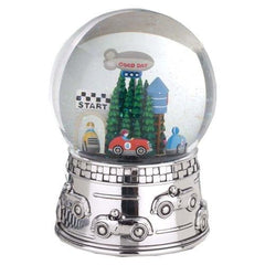Reed & Barton Race Car Musical Water Globe Star Spangled Banner - Misc