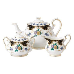 Royal Albert 3Pc 100 Years 1910 Teapot Sugar & Creamer Set - Misc
