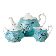Royal Albert 3Pc 100 Years 1950 Teapot Sugar & Creamer Set - Misc