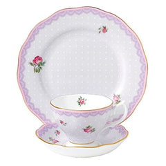 Royal Albert Candy 3Pc Teacup Saucer & Plate Set - Misc