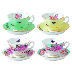 Royal Albert Miranda Kerr Teacups & Saucers Set Of 4 Assorted - Misc