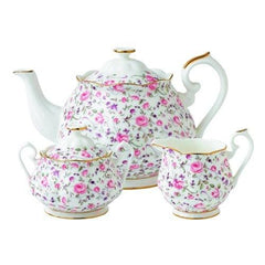 Royal Albert New Country Roses 3Pc Rose Confetti Tea Set - Misc