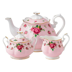 Royal Albert New Country Roses Pink 3Pc Tea Set - Misc