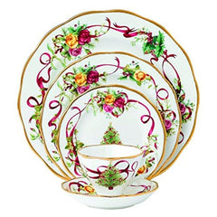 Royal Albert Old Country Roses Christmas Tree 5Pc Dinnerware Set - Misc
