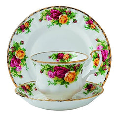 Royal Albert Old Country Roses Teacup Saucer & Plate Set - Misc
