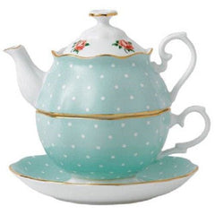 Royal Albert Polka Rose Tea For One Set - Misc