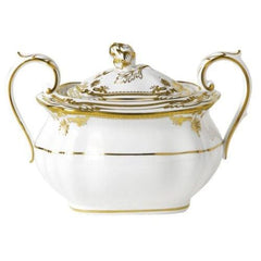 Spode Stafford White Covered Sugar Bowl - Misc