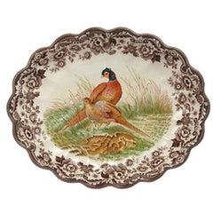 Spode Woodland Pheasant Oval Fluted Dish - Misc