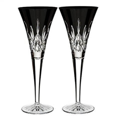 Waterford Lismore Black Set Of 2 Flutes - Misc