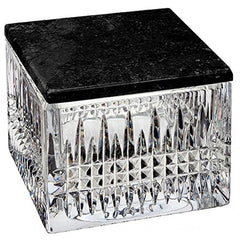 Waterford Lismore Diamond Covered Box W/marble Lid - Misc