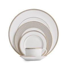 Waterford Lismore Diamond Gold 5Pc Dinnerware Set - Misc