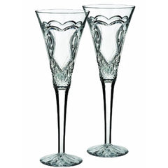 Waterford Wedding Champagne Flutes Set Of 2 - Misc