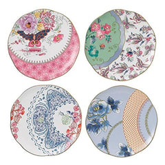 Wedgwood Harlequin Butterfly Bloom 8.25 Plates Set Of 4 - Misc