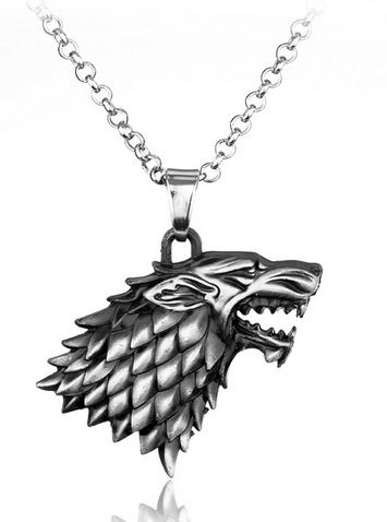 COLLIER PENDENTIF GAMES OF THRONES - MAISON STARK