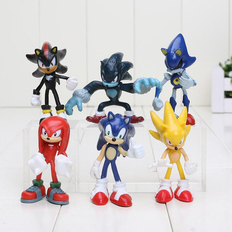 1 LOT DE 6 FIGURINES (7 CM) SONIC THE HEDGEHOG 2 - LIVRAISON GRATUITE !