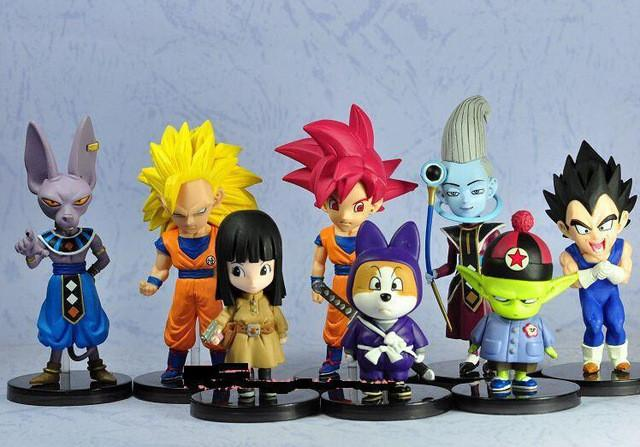 1 LOT DE 8 FIGURINES DRAGON BALL Z - LIVRAISON GRATUITE !