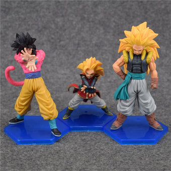 1 LOT DE 3 FIGURINES SUPER SAIYAN GOGETA DRAGON BALL Z - LIVRAISON GRATUITE !