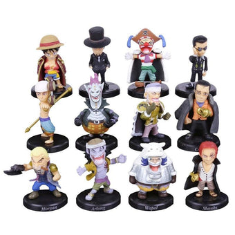 1 LOT DE 12 MINI FIGURINES COLLECTION ONE PIECE - LIVRAISON GRATUITE !