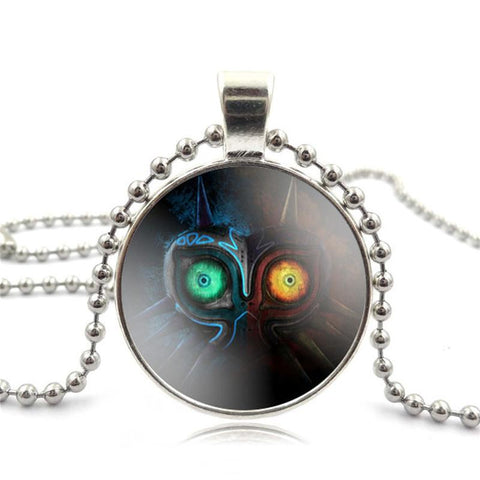 COLLIER MAJORA'S MASK EN VERRE CABOCHON THE LEGEND OF ZELDA (2 COULEURS) - LIVRAISON GRATUITE !