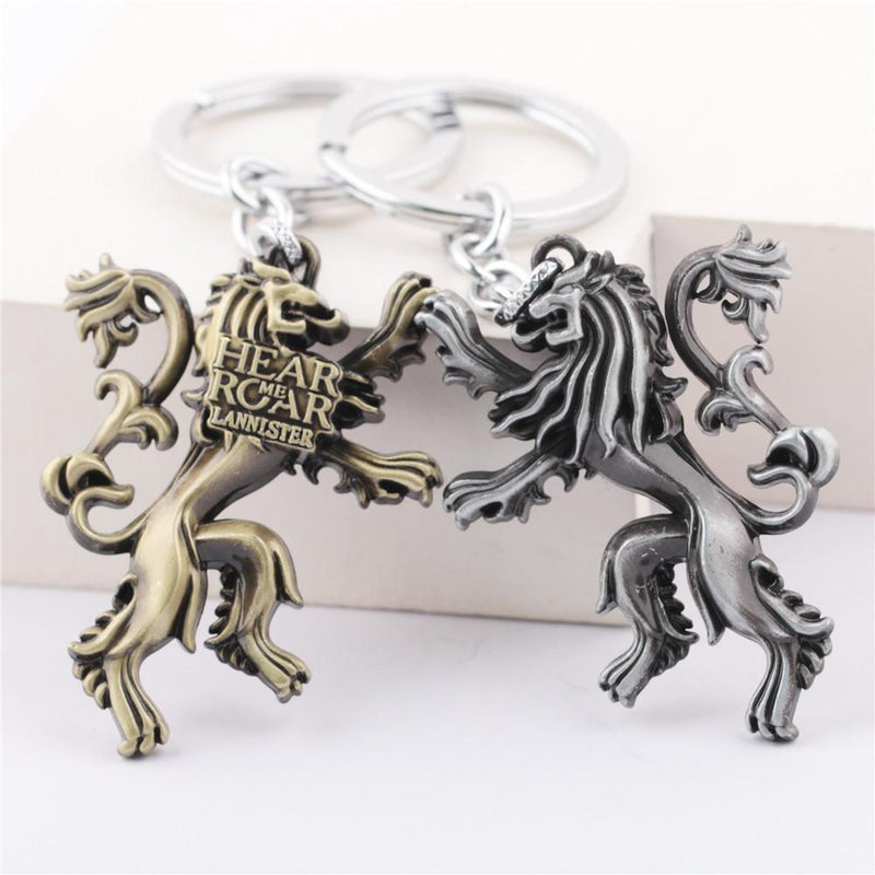 PORTE-CLÉ LION HEAR ME ROAR LANNISTER GAME OF THRONES (2 COULEURS) - LIVRAISON GRATUITE !