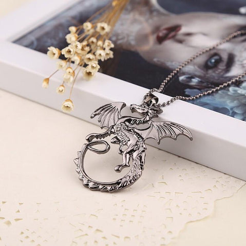 COLLIER DRAGON TARGARYEN GAME OF THRONES - LIVRAISON GRATUITE !