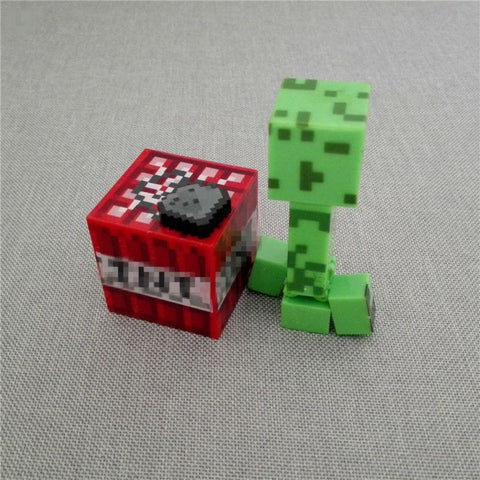 1 LOT DE 3 FIGURINES (CREEPER / BLOC / PACK ARME) MINECRAFT - LIVRAISON GRATUITE !
