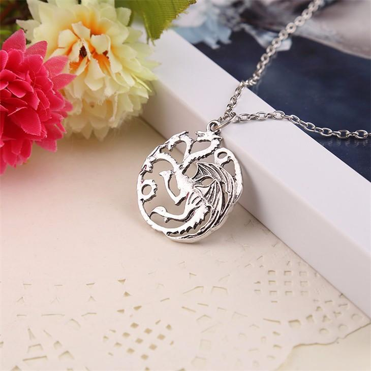 COLLIER DRAGON TARGARYEN GAME OF THRONES FIRE AND BLOOD - LIVRAISON GRATUITE !