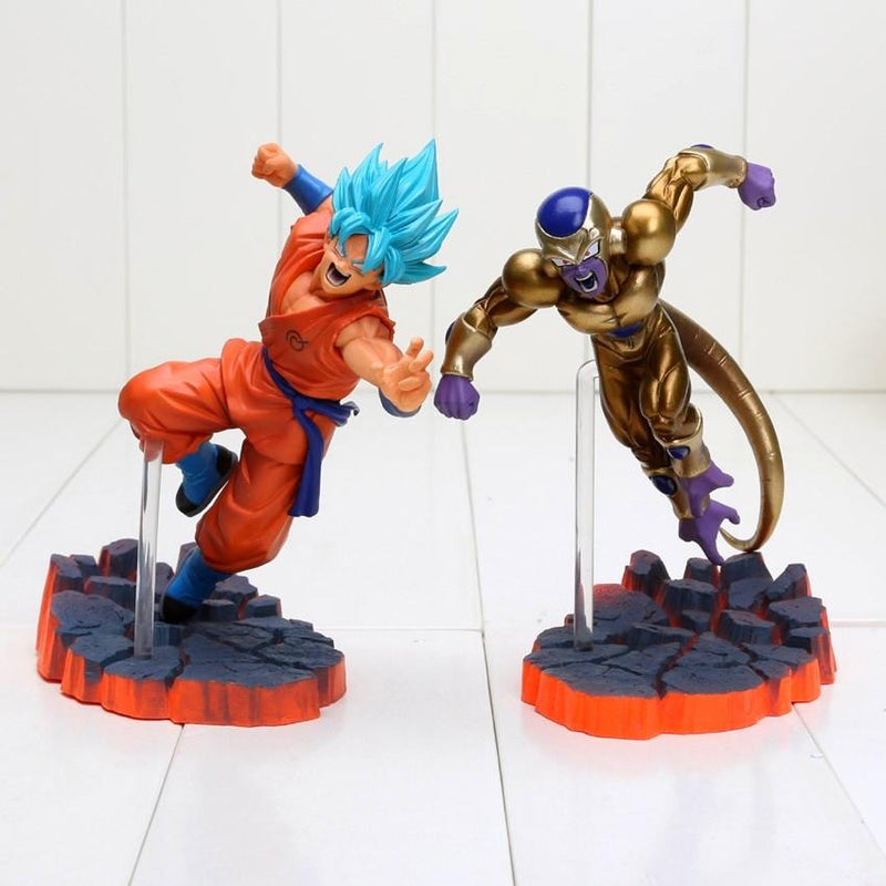 FIGURINES SAN GOKU SUPER SAIYAN ET FREEZER DRAGON BALL SUPER - LIVRAISON GRATUITE !