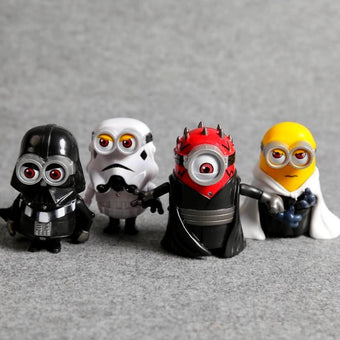 1 LOT DE 4 FIGURINES MINION VERSION STAR WARS - LIVRAISON GRATUITE !