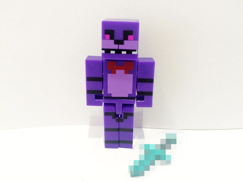 1 LOT DE 4 FIGURINES MINECRAFT (FOXY CHICA BONNIE FREDDY ) - LIVRAISON GRATUITE !